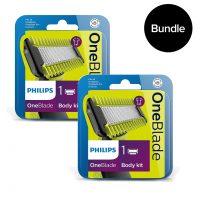 Philips - 2x Oneblade Body kit QP610/50 - Bundle