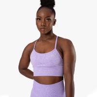 Queen Mesh Sport Bra, Lavender Melange