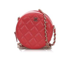 Round As Earth Caviar Crossbody Bag Leather
