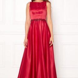 SUSANNA RIVIERI Ceremonial Satin Dress Red 40