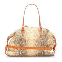 Selleria Python Leather Shoulder Bag