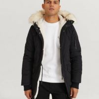Sixth June Parkas Polycotton Parka Svart