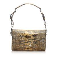 Sound Lock Python Leather Shoulder Bag