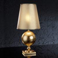 Terra gyllen bordlampe, 60 cm høyde
