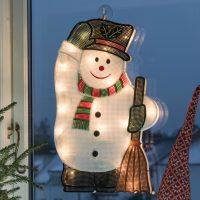 Til innendørsbruk - LED-vindusbilde Snømann