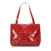 Triple Coco Patent Leather Tote Bag