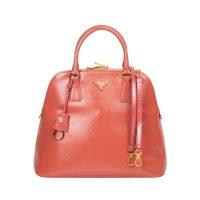 Vernice Leather Dome Bag