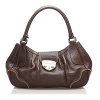 Vitello Daino Sound Lock Handbag