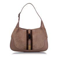 Web Jackie Suede Shoulder Bag