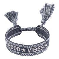 Woven Friendship Bracelet Good Vibes
