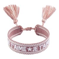 Woven Friendship Bracelet - JE T'aime