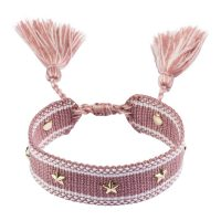 Woven Friendship Bracelet With Star Stud