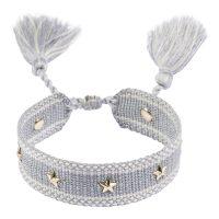 Woven Friendship Bracelet With Stars