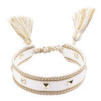 Woven Friendship Bracelet With Studs