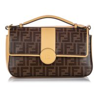 Zucca Double F Satchel Coated Canvas