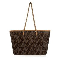 Zucca Monogram Canvas Quilted Roll Tote Bag Shopper