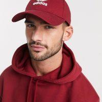 adidas Originals trefoil cap in burgundy-Red