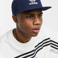 adidas snapback trefoil cap in blue