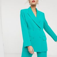& Other Stories oversized double breasted blazer in emerald green
