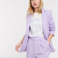 & Other Stories single breasted blazer in lilac-Purple