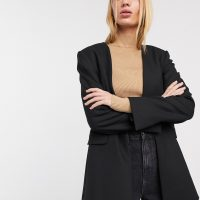 & Other Stories tailored wool mix blazer in black