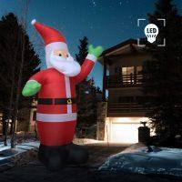 vidaXL Oppblåsbar julenisse LED IP44 600 cm XXL