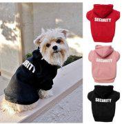 3 Colors Pet Dog Security Clothes Jumpsuit Puppy Costume