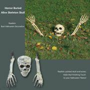3 Piece Halloween Horror Buried Alive Skeleton