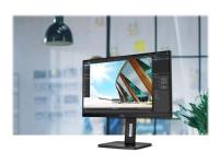 AOC 24P2C - LED-skærm - 24 (23.8 til at se) - 1920 x 1080 Full HD (1080p) @ 75 Hz - IPS - 250 cd/m² - 1000:1 - 4 ms - HDMI, DisplayPort, USB-C - højtalere - sort