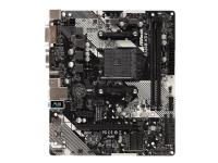 ASRock A320M-HDV R4.0 - Hovedkort - mikro ATX - Socket AM4 - AMD A320 - USB 3.1 Gen 1 - Gigabit LAN - innbygd grafikk (CPU kreves) - HD-lyd (8-kanalers)