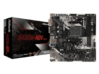 ASRock B450M-HDV R4.0 - Hovedkort - mikro ATX - Socket AM4 - AMD B450 - USB 3.1 Gen 1 - Gigabit LAN - innbygd grafikk (CPU kreves) - HD-lyd (8-kanalers)
