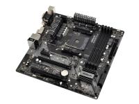 ASRock B450M PRO4 - Hovedkort - mikro ATX - Socket AM4 - AMD B450 - USB 3.1 Gen 1, USB-C Gen2, USB 3.1 Gen 2 - Gigabit LAN - innbygd grafikk (CPU kreves) - HD-lyd (8-kanalers)