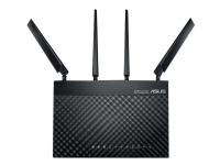 ASUS 4G-AC68U - Trådløs ruter - WWAN - 4-portssvitsj - GigE - 802.11a/b/g/n/ac - Dobbeltbånd service ikke inkludert