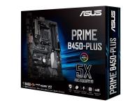 ASUS PRIME B450-PLUS - Hovedkort - ATX - Socket AM4 - AMD B450 - USB 3.1 Gen 1, USB 3.1 Gen 2, USB-C Gen1 - Gigabit LAN - innbygd grafikk (CPU kreves) - HD-lyd (8-kanalers)