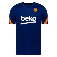 Barcelona Trenings T-Skjorte Breathe Strike - Navy/Gul