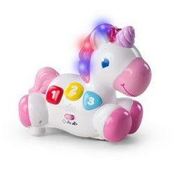 Bright Starts Rock & Glow Unicorn™ Crawl and Chase Aktivitetsleketøy Rosa 6+ months