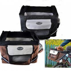 Brun sykkelbag for hund