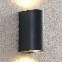 ELC Fijona utendørs LED-vegglampe rund, 15 cm
