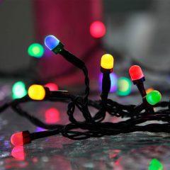 Firefarget lysende LED-lyskjede Party utendørs