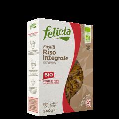 Fusilli di Riso Intergrale, Brown Rice Fusilli, 340 g