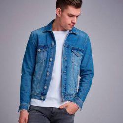 GABBA Jeansjakke Dave Rigid denim Jacket Blå