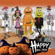 Halloween Paper DIY Pendant 3D Skeleton Zombie Vampire