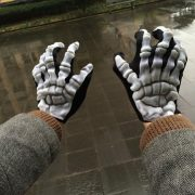 Halloween Skeleton Gloves Foaming Skeleton Costume Party Supplies Horrible Gloves