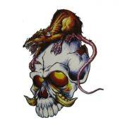 Halloween Skeleton Waterproof Temporary Tattoo Sticker