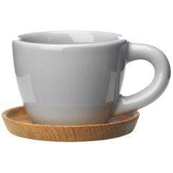 Höganäs Keramik Espressokopp 10 cl med Trefat Kiselgrå Blank