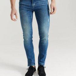 JUNK de LUXE Jeans Kliment Neps Denim Blå
