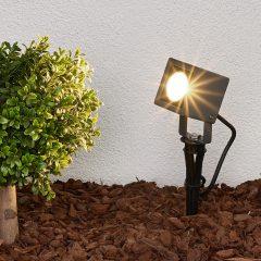 Jordspydlampe Jiada med LED-lys