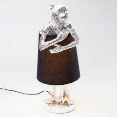 KARE Animal Monkey bordlampe sølv/svart