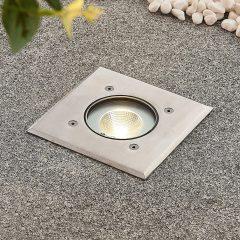 Kari LED-bakkespot, rustfritt stål, kantet