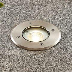 Kari LED-bakkespot, rustfritt stål, rund